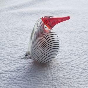 Blown Glass Bird Paperweight